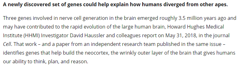 Screenshot of Neuroscience News article