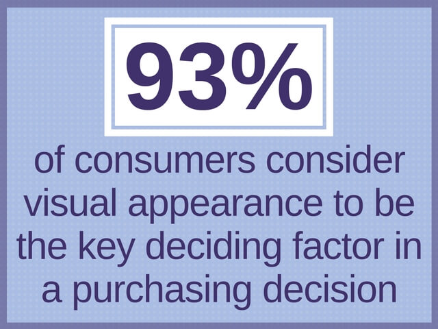 93% graphic statistic about visual appearance and purchasing decision