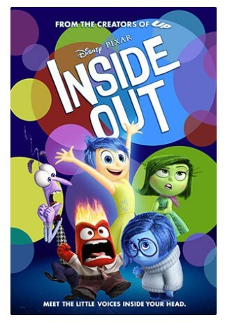 Movie poster for Disney Pixar's Inside Out