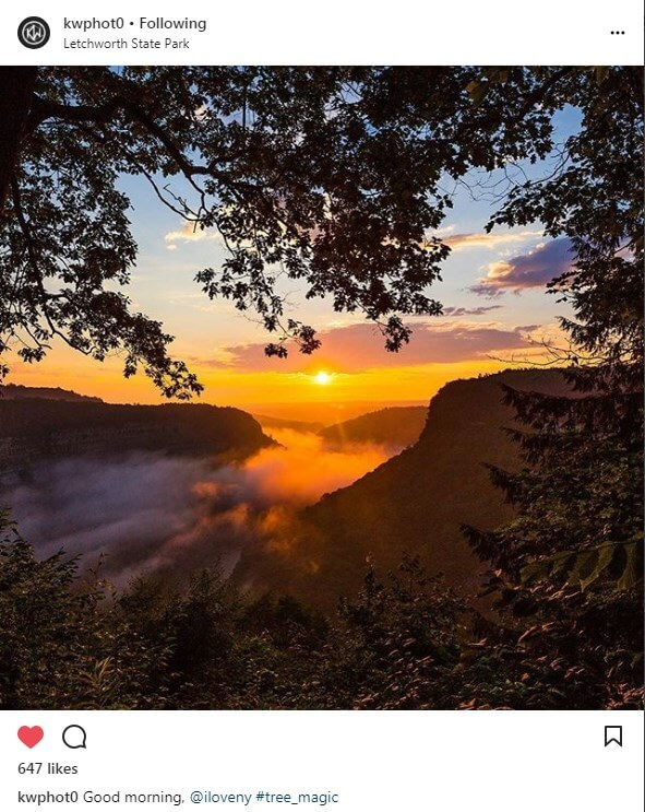 Keith Walters Instagram photo of a sunrise