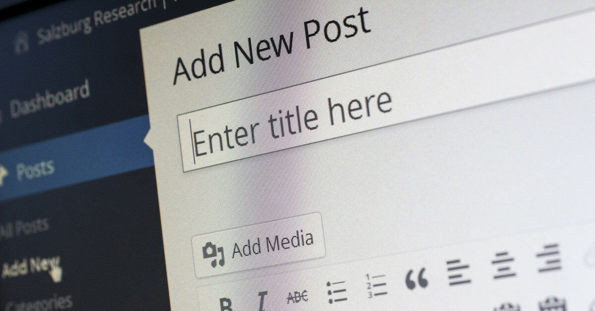 Creation of a new blog post, representing the importance of publishing content on a consistent basis.