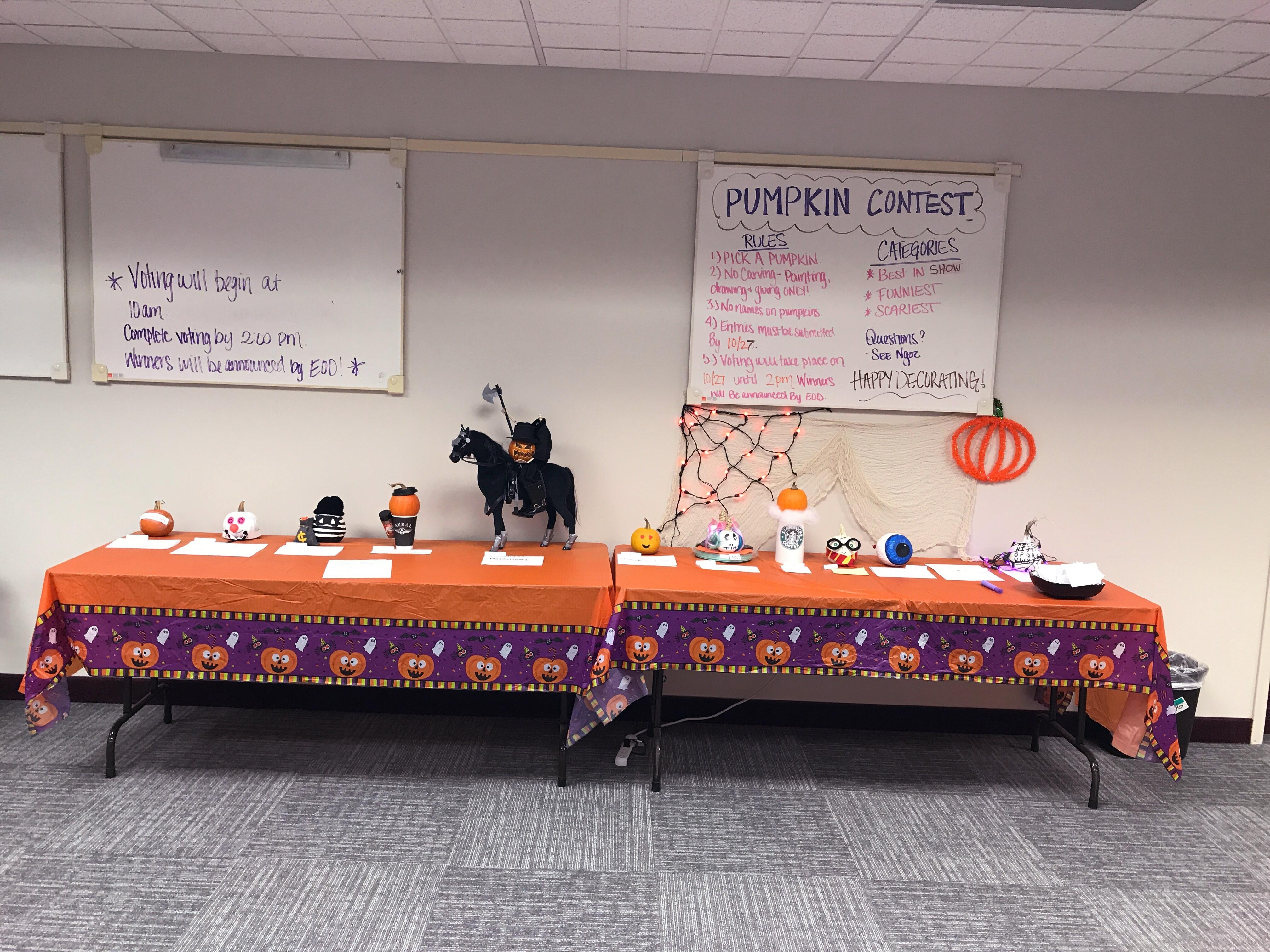 Virtucom Group Pumpkin Decorating Contest